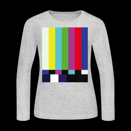 This is a TV Test | Retro Television Broadcast - Women's Long Sleeve Jersey T-Shirt