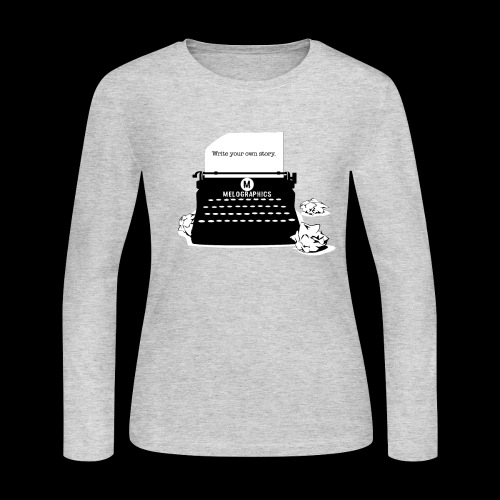 Write Your Own Story | Vintage Typewriter - Women's Long Sleeve Jersey T-Shirt