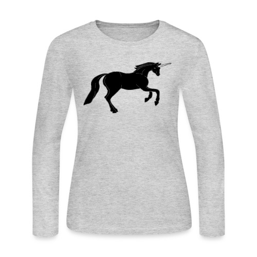 unicorn black - Women's Long Sleeve Jersey T-Shirt