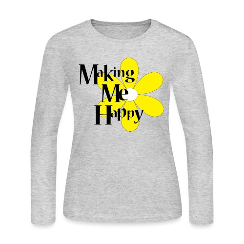 MakingMeHappy - Women's Long Sleeve Jersey T-Shirt