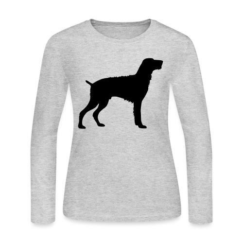 German Wirehaired Pointer - Women's Long Sleeve Jersey T-Shirt