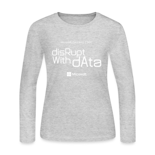 Disrupt with Data white on black or grey blue - Women's Long Sleeve Jersey T-Shirt