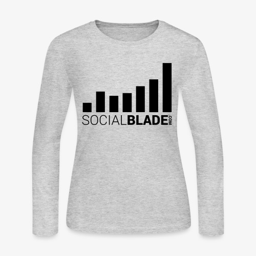 Socialblade (Dark) - Women's Long Sleeve Jersey T-Shirt