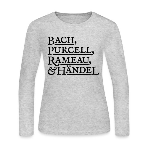 Fab Four of Early Music - Women's Long Sleeve Jersey T-Shirt