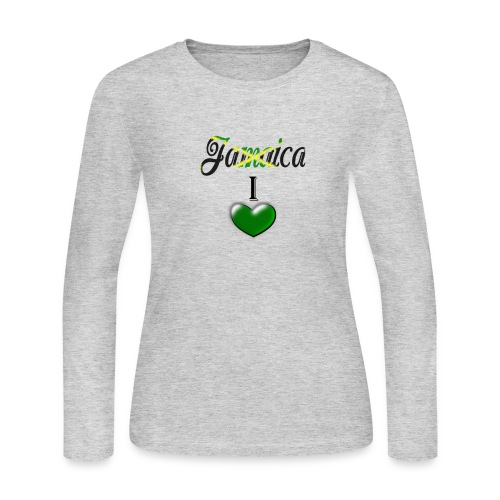 jamaica i love - Women's Long Sleeve Jersey T-Shirt