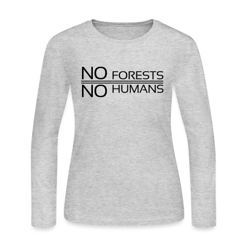 No Forests No Humans - Women's Long Sleeve Jersey T-Shirt