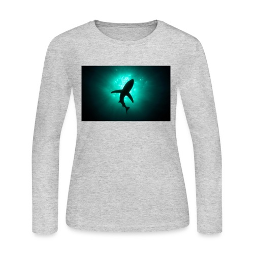 Shark in the abbis - Women's Long Sleeve Jersey T-Shirt