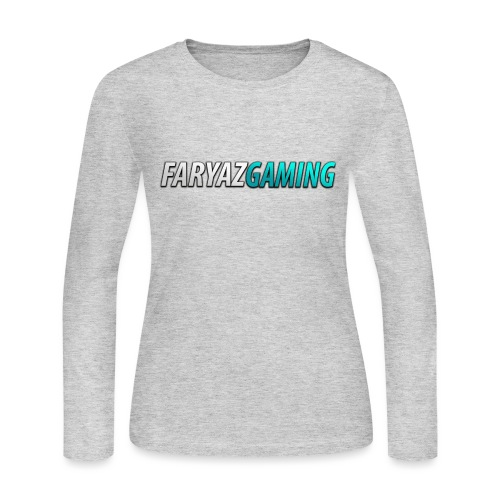 FaryazGaming Theme Text - Women's Long Sleeve Jersey T-Shirt