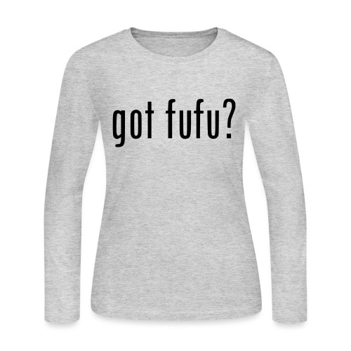 gotfufu-black - Women's Long Sleeve Jersey T-Shirt