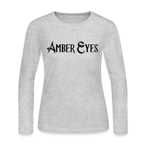AMBER EYES LOGO IN BLACK - Women's Long Sleeve Jersey T-Shirt