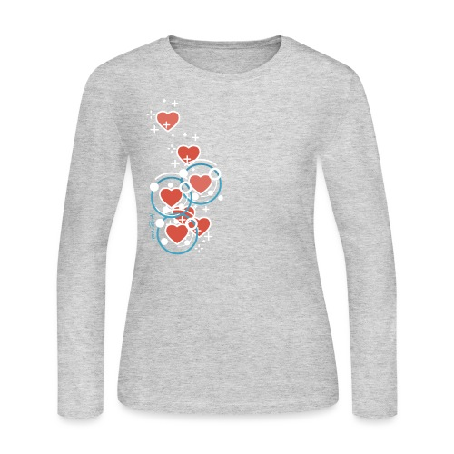 SuperHearts - Women's Long Sleeve Jersey T-Shirt