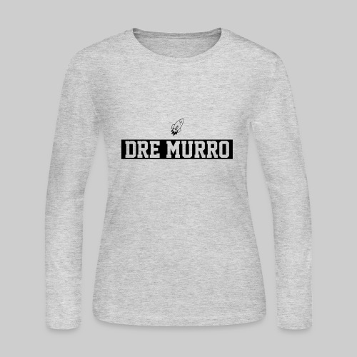 Dre Murro (Official Logo - Black) - Women's Long Sleeve Jersey T-Shirt