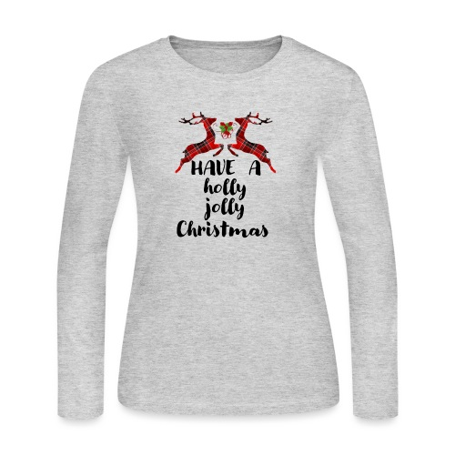 Holly Jolly Christmas - Women's Long Sleeve Jersey T-Shirt