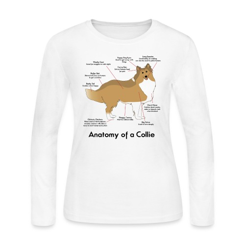 Anatomy of a Collie - Women's Long Sleeve Jersey T-Shirt