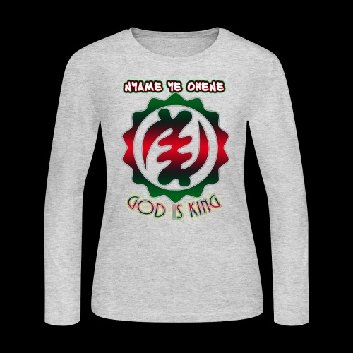 God is King Adinkra - Women's Long Sleeve Jersey T-Shirt