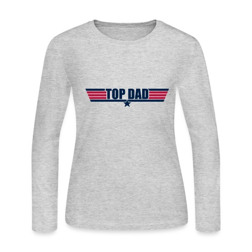 Top Dad - Women's Long Sleeve Jersey T-Shirt