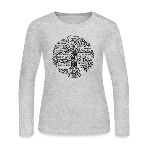 Yggdrasil - The World Tree - Women's Long Sleeve Jersey T-Shirt