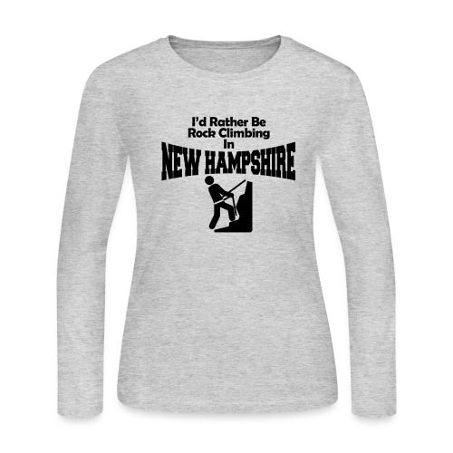 Rock Climbing New Hampshire - Women's Long Sleeve Jersey T-Shirt