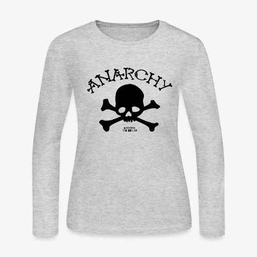 Anar Skull black - Women's Long Sleeve Jersey T-Shirt
