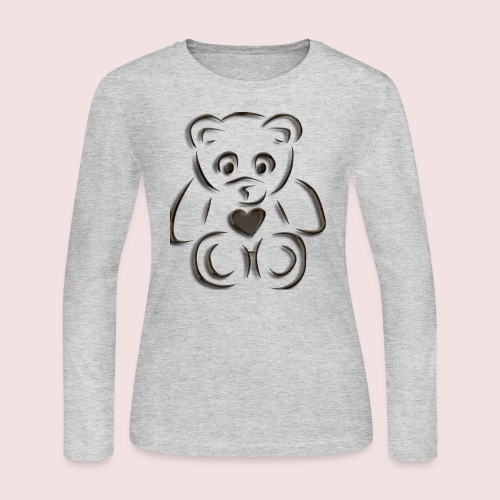 realistic teddy - Women's Long Sleeve Jersey T-Shirt