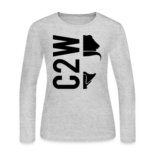 C2W Split Logo - Black - Premium Tee - Women's Long Sleeve Jersey T-Shirt