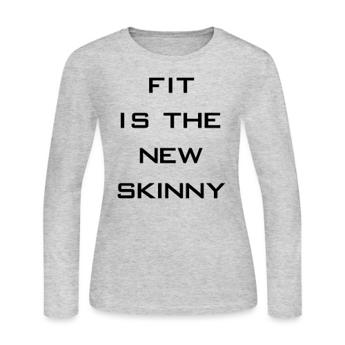 The New Skinny Gym Motivation - Women's Long Sleeve Jersey T-Shirt