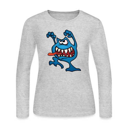 cartoon monster 4 - Women's Long Sleeve Jersey T-Shirt