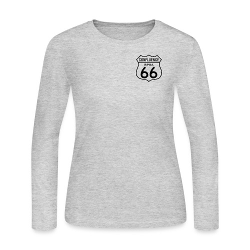 66thConfluenceSign outlines png - Women's Long Sleeve Jersey T-Shirt