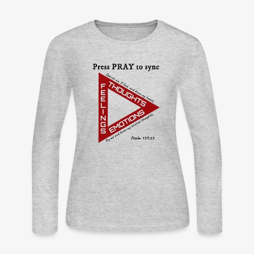 Press PRAY to Sync - Women's Long Sleeve Jersey T-Shirt