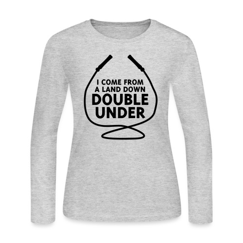 I Come From A Land Down Double Under - Women's Long Sleeve Jersey T-Shirt