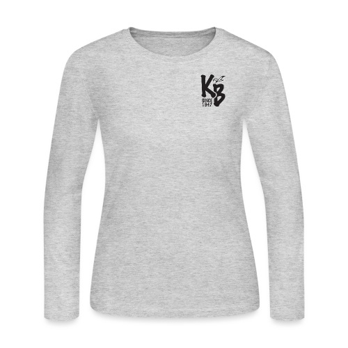Kure Beach Day-Black Lettering-Front and Back - Women's Long Sleeve Jersey T-Shirt