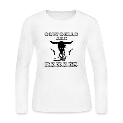 COWGIRLS ARE BADASS - Women's Long Sleeve Jersey T-Shirt