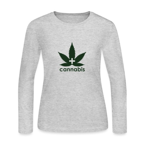 Medical Cannabis Supporter - Women's Long Sleeve Jersey T-Shirt