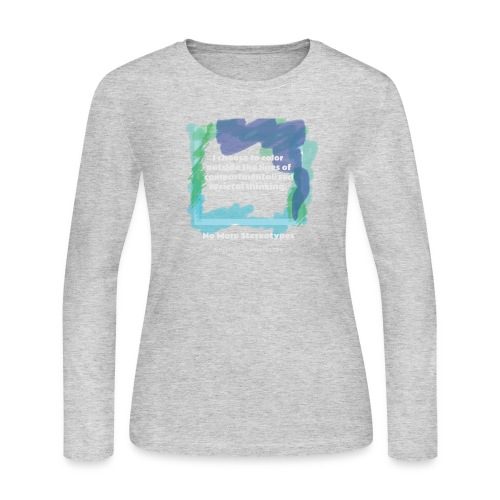 Color Outside the Lines! - Women's Long Sleeve Jersey T-Shirt