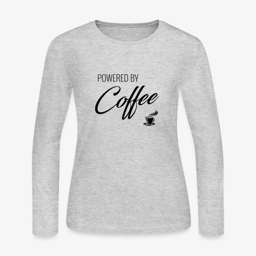 Powered by Coffee - Women's Long Sleeve Jersey T-Shirt