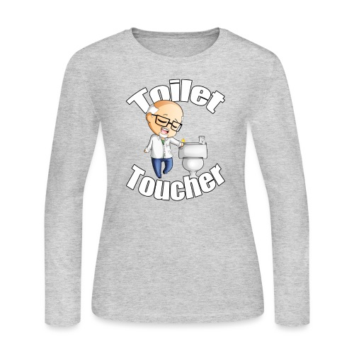 toilet toucher png - Women's Long Sleeve Jersey T-Shirt