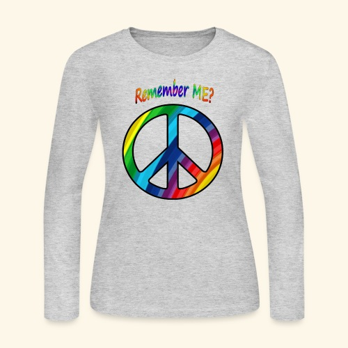 remember me - Peace Sign - Women's Long Sleeve Jersey T-Shirt