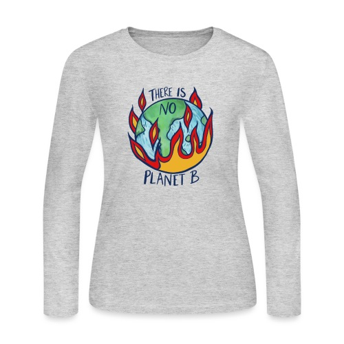There is no planet b - Women's Long Sleeve Jersey T-Shirt