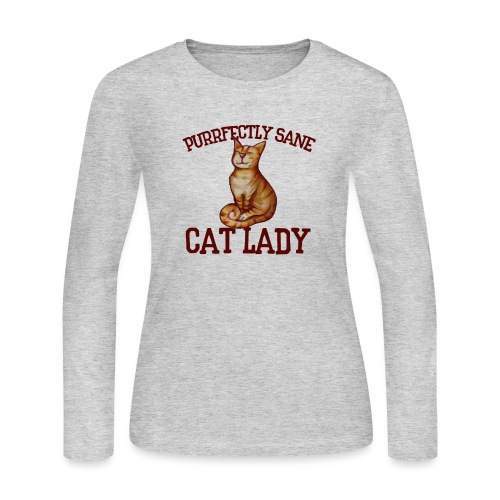 Purrfectly sane cat lady - Women's Long Sleeve Jersey T-Shirt