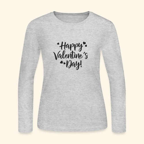 Happy Valentines day - Women's Long Sleeve Jersey T-Shirt