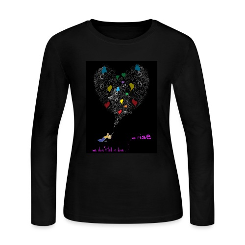Hearts and Hand V2 Front - Women's Long Sleeve Jersey T-Shirt