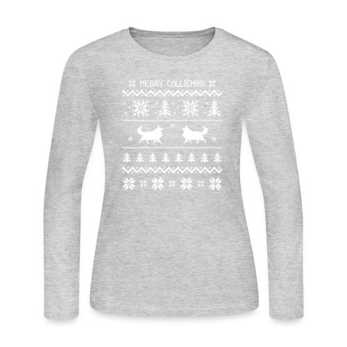 Merry Colliemas - Women's Long Sleeve Jersey T-Shirt