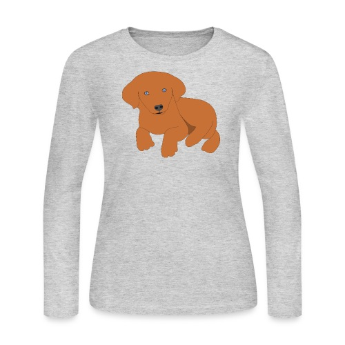 Golden retriever dog - Women's Long Sleeve Jersey T-Shirt