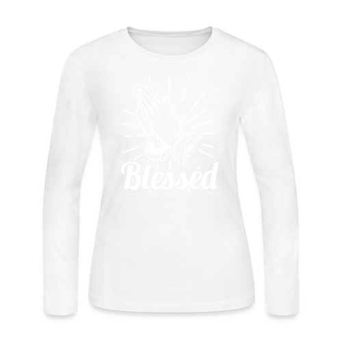 Blessed (White Letters) - Women's Long Sleeve Jersey T-Shirt