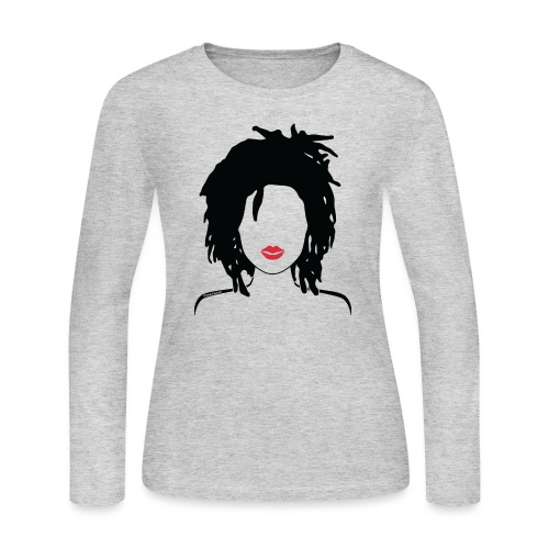 Locs & Lipstick_Global Couture Women's T-Shirts - Women's Long Sleeve Jersey T-Shirt