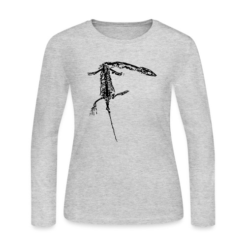 keichousaurus fossil pop art - Women's Long Sleeve Jersey T-Shirt