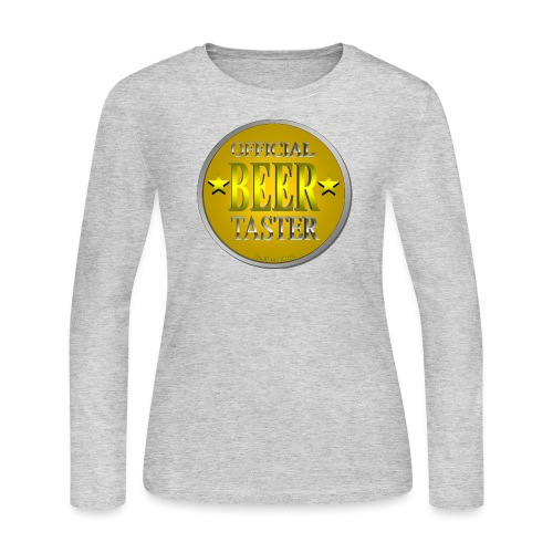 Official Beer Taster - Women's Long Sleeve Jersey T-Shirt