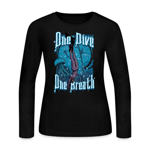 One Dive One Breath Freediving - Women's Long Sleeve Jersey T-Shirt