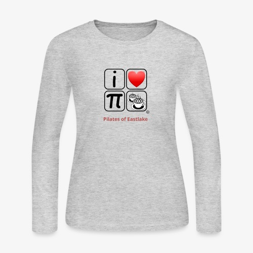 I love Pilates black and white - Women's Long Sleeve Jersey T-Shirt