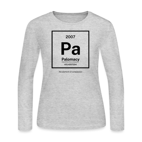 Palomacy: Element of Compassion (Black) - Women's Long Sleeve Jersey T-Shirt